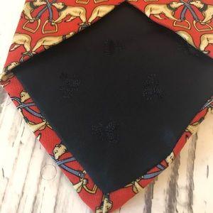 Brooks Brothers Accessories - Brooks Brothers makers silk orange bear tie